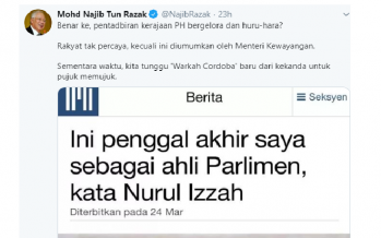 Najib mocks Mujahid over Nurul Izzah's criticism on Dr Mahathir