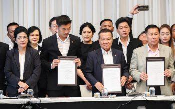 Thailand's opposition parties form alliance, demands junta step aside