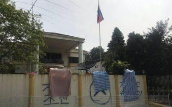 N.Korean Embassy in Kuala Lumpur Defaced with Graffiti