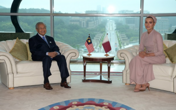 Mahathir receives courtesy call from Sheikha Moza