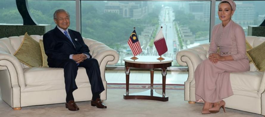 Mahathir receives courtesy call from Sheikha Moza