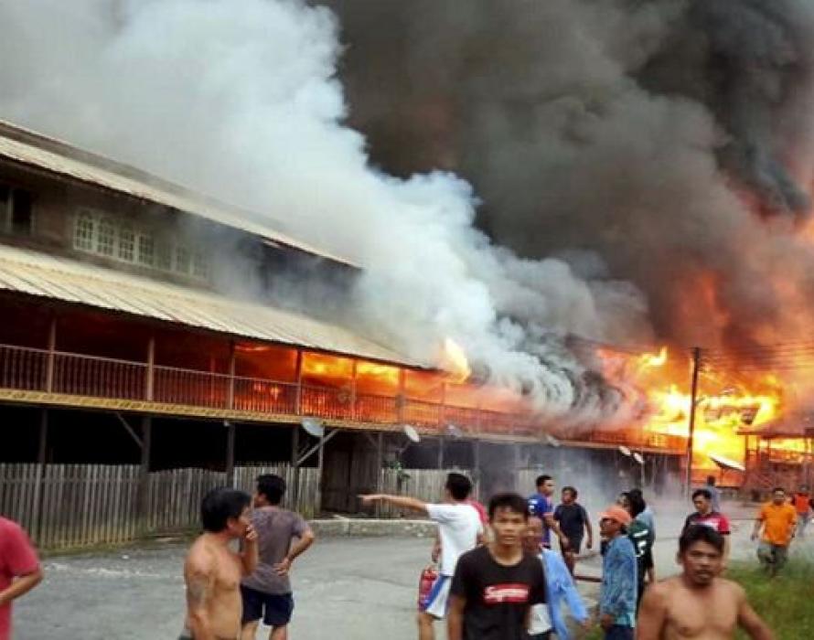 400 people left homeless in Uma Bawang fire