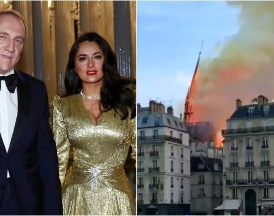 Salma Hayek's billionaire husband: 100 million euros to rebuild Notre Dame Cathedral