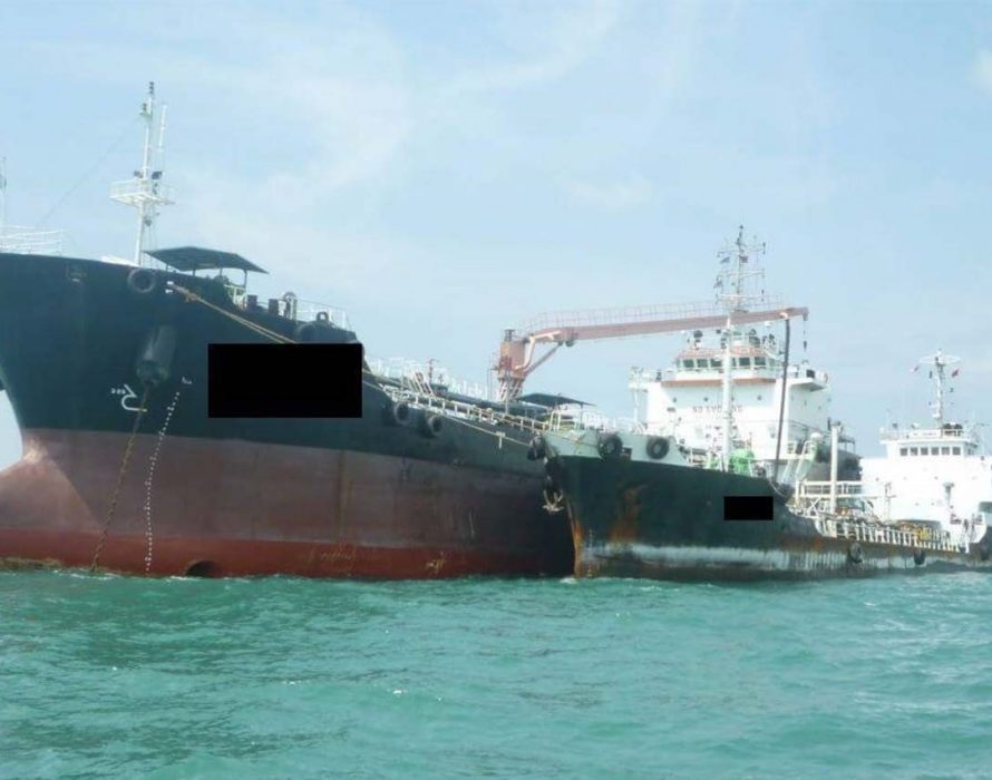 Tanker detained for anchoring without permission