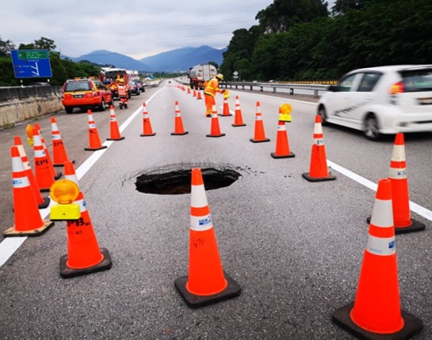 Sinkhole at KM 272 NSE closed up