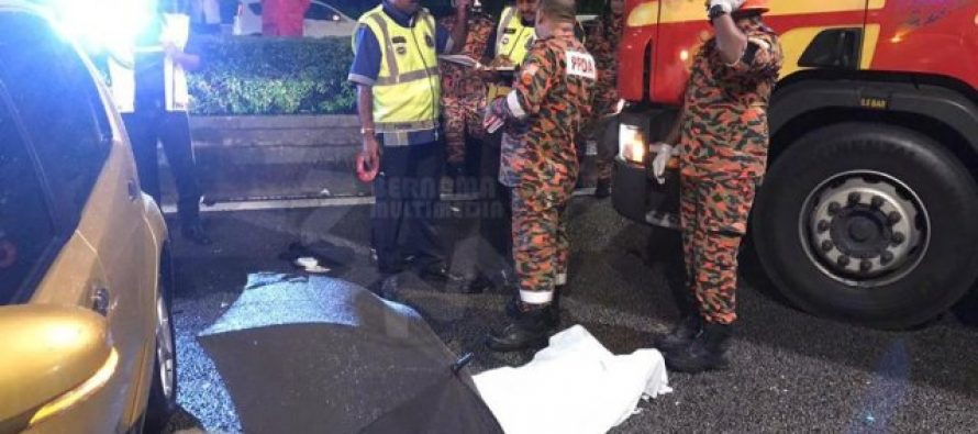 Motorcyclist dies, six-car accident along Jalan Istana