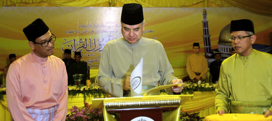 Sultan Perak graces state level Nuzul Quran