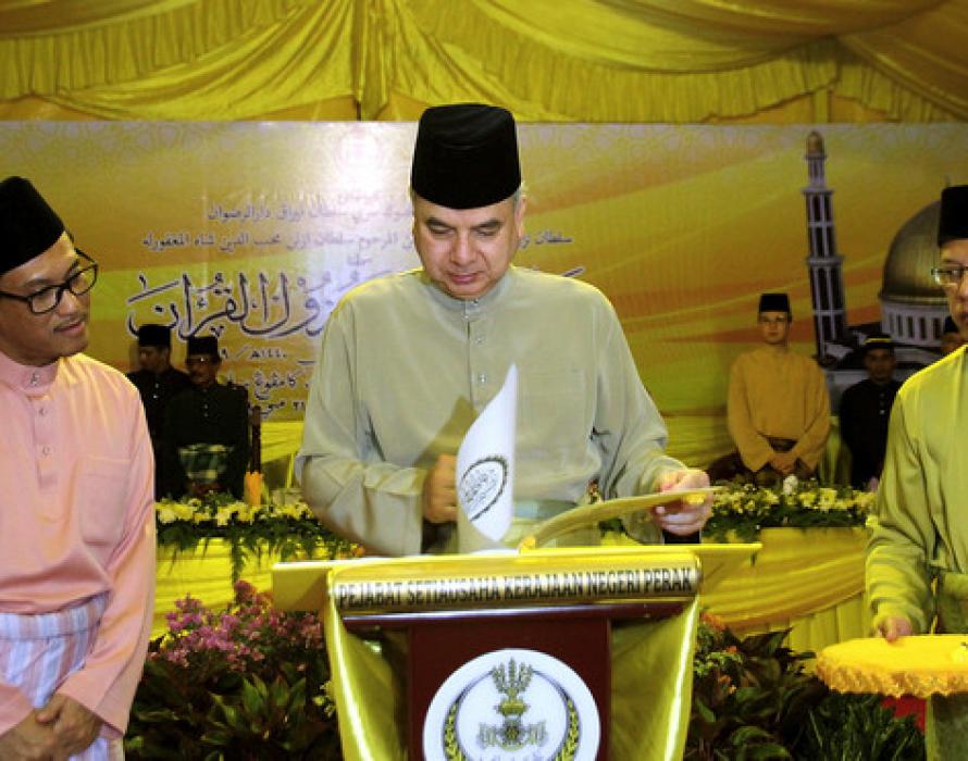 Sultan Perak graces state level Nuzul Quran
