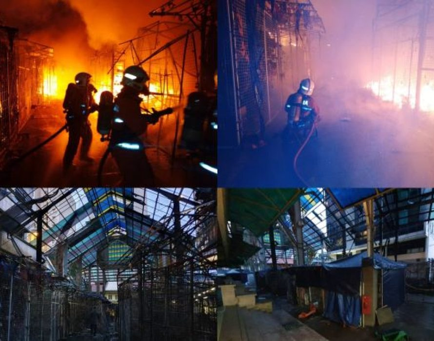 Early morning fire engulfs 30 stalls in Jalan Masjid India