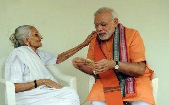 Modi meets mum, 95, after Indian election landslide