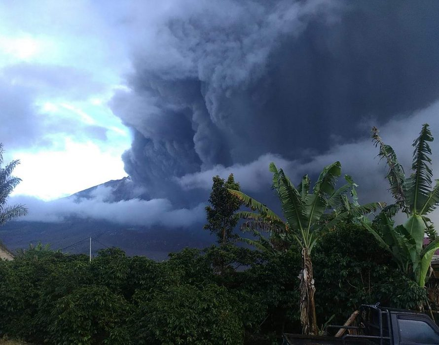 Indonesia's Mount Sinabung spews massive smoke and ash