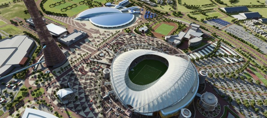 Qatar brings first new World Cup stadium to life