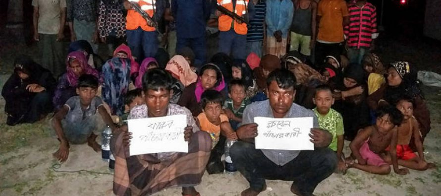 Bangladesh picks up 58 Malaysia-bound Rohingya at sea