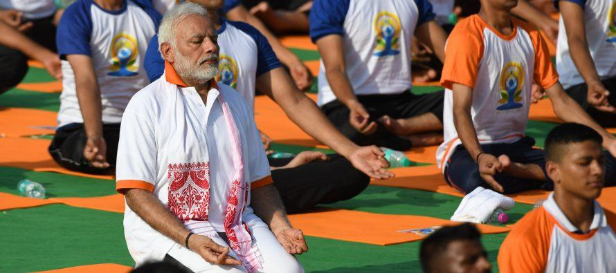 "Modi: ""Meditation Integral To Yoga"""