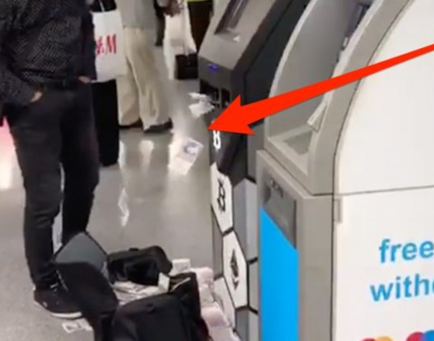 Bitcoin machine spits out money in middle of London station