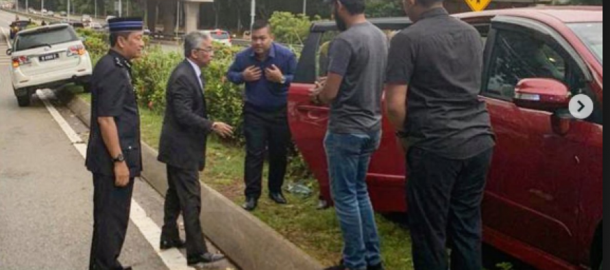 Agong steps in to help accident victim in Putrajaya