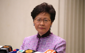 Self-styled Iron Lady Carrie Lam buckles under pressure