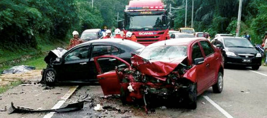 Senior citizen dies, eight others suffer injuries in accident