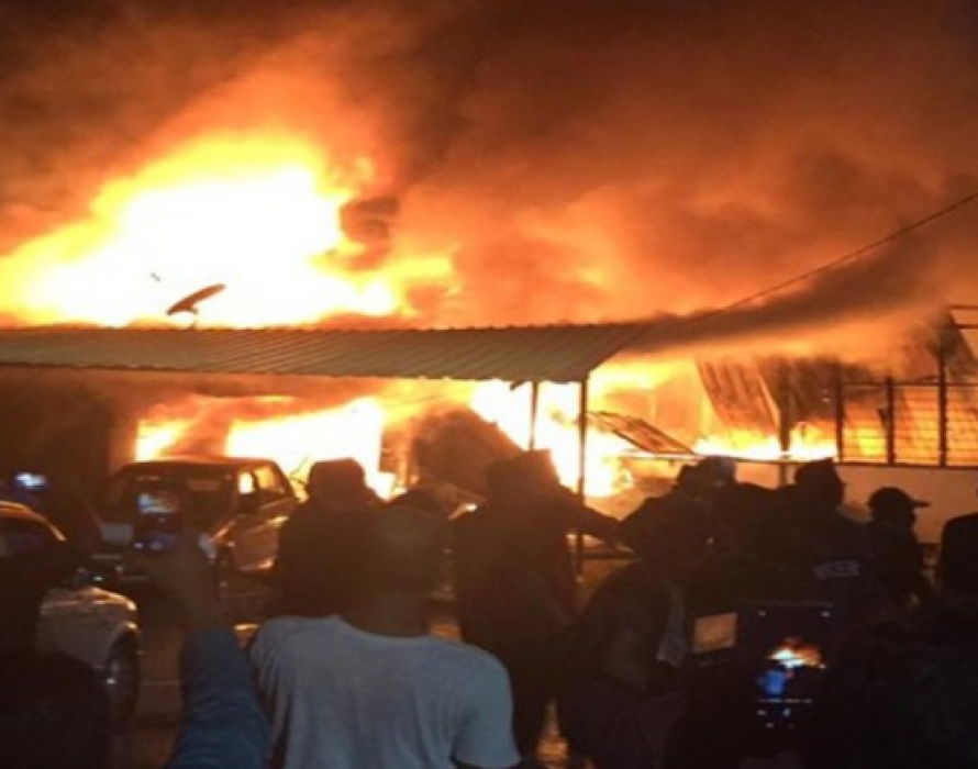 Five squatter houses gutted by fire