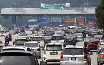 5km snarl between Tapah and Gopeng, otherwise smooth