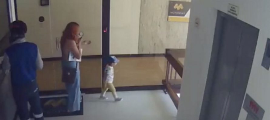 Viral video: Woman's quick reflexes saved toddler son from falling off balcony