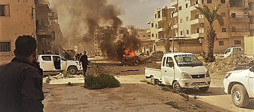Ten dead in Islamic State's suicide car bomb attack