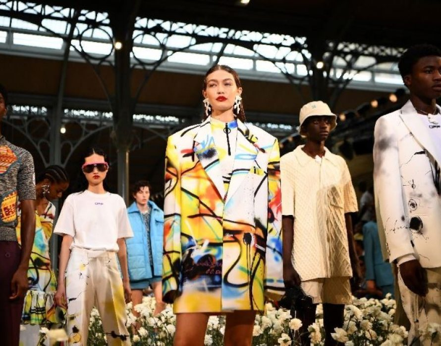 Abloh brings out stars for fashion show