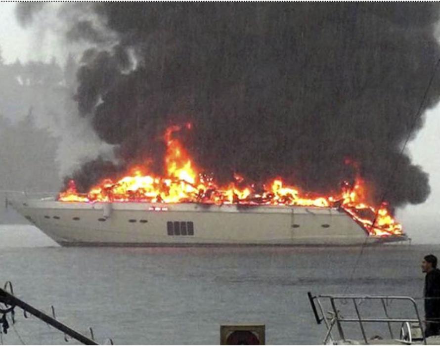 Charred body found in luxury yacht fire in Langkawi
