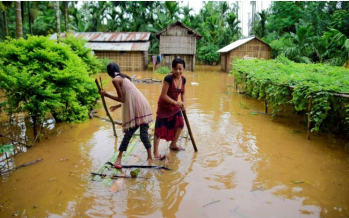 Heavy downpour and floods in Assam kill 10, displace one million