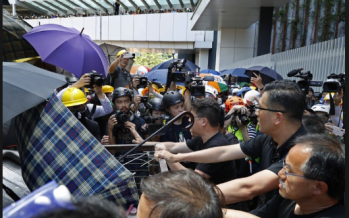 HK charges 44 for rioting, new protests erupt