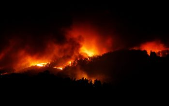 Wildfires hit central Portugal