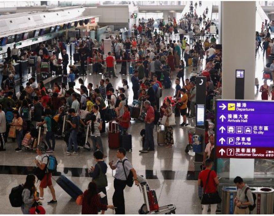 Hong Kong's airport reopens, more than 200 flights canceled