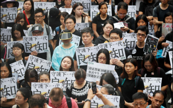Hong Kong weekend protests begin with teachers' rally