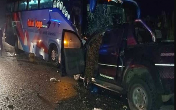 4WD driver killed after collision with express bus
