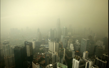Haze blocks KL Tower, KLCC visibility