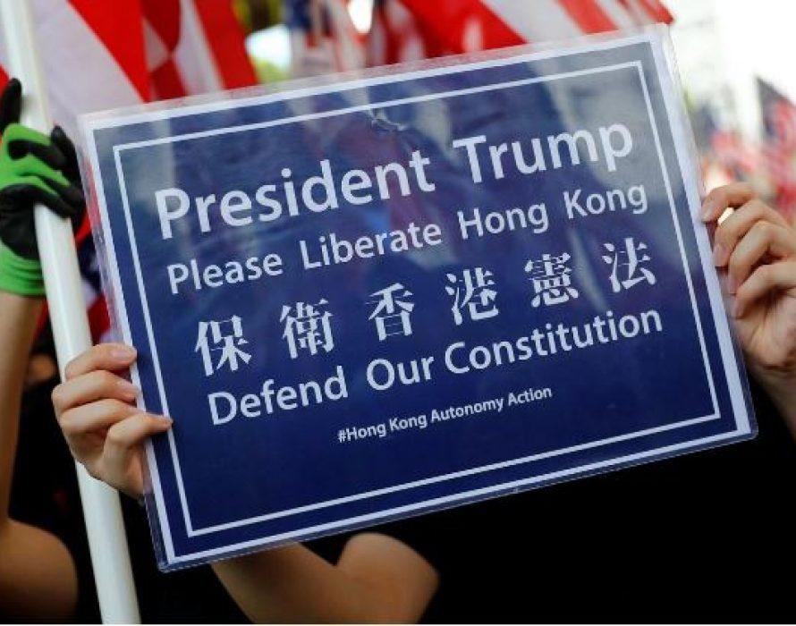 'Trump, liberate Hong Kong'