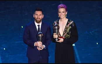 Messi awarded FIFA Player of the Year award