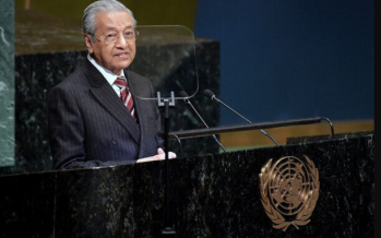 Mahathir defends palm oil at the UN