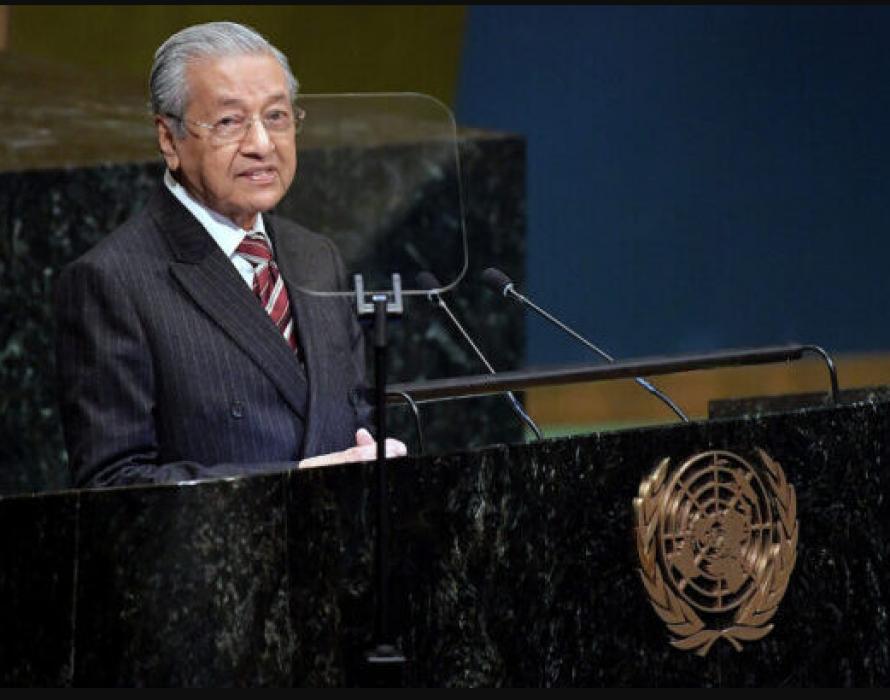 Mahathir defends palm oil at the UN
