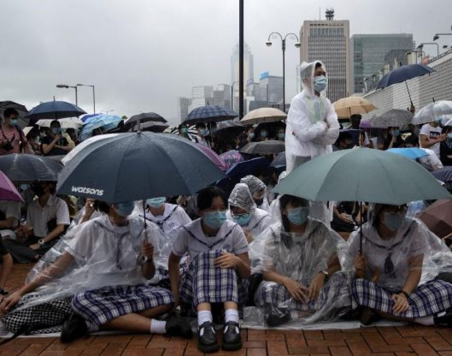 Hong Kong students boycott classes after weekend of violence