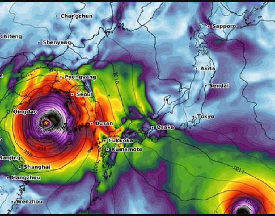 Typhoon Lingling enters Korean Peninsula