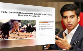 Syed Saadiq: UM graduate was insolent but don't revoke his scroll