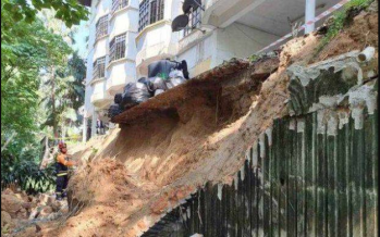 Several residents of Azalea Apartments evacuated following landslide