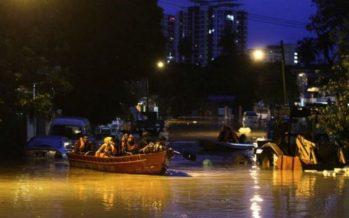 Flash floods warning for residents in low-lying areas