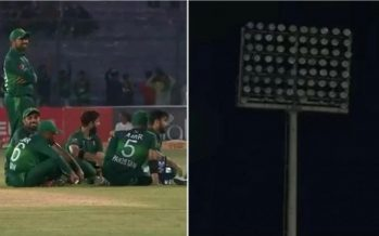 Floodlights go dark at Pakistan vs Sri Lanka match in Karachi