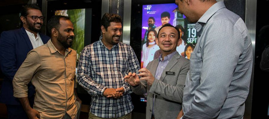 Maszlee at the premiere of Tamil drama 'Raatchasi'