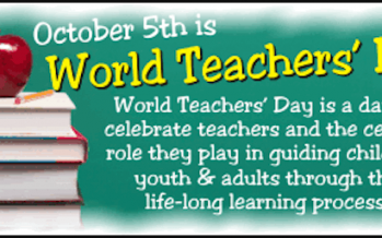 Celebrating World's Teachers' Day on Oct 5