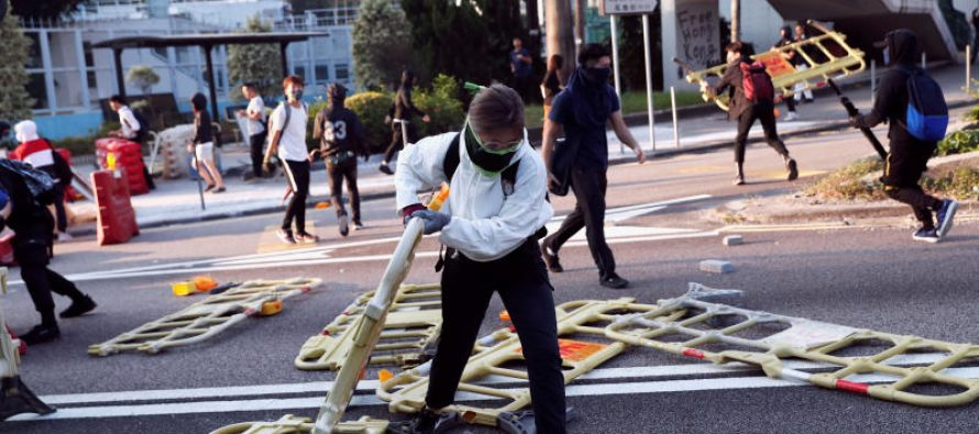 Hong Kong protest: One  protester shot by police as chaos erupts across city