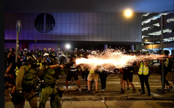 Hong Kong: Protester critical after being shot by police