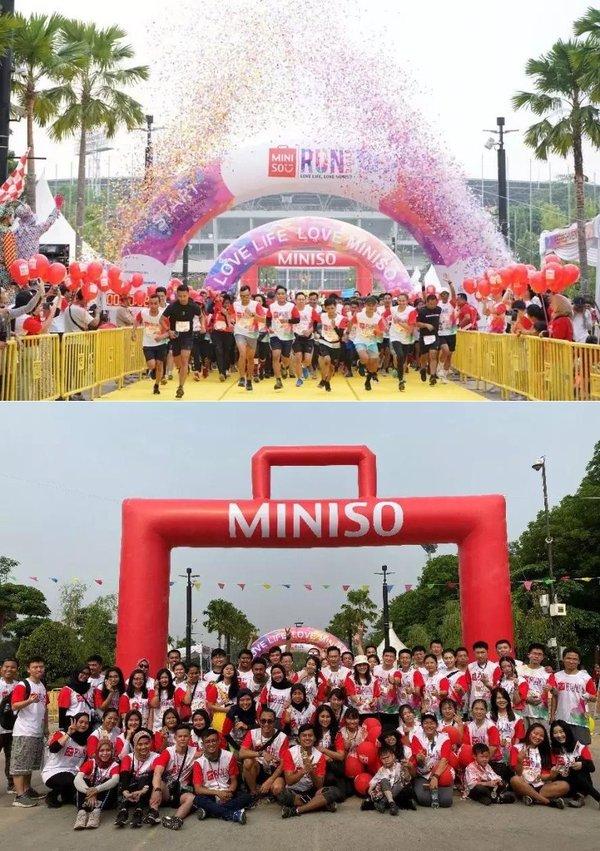 MINISO Fun Run Held in Indonesia